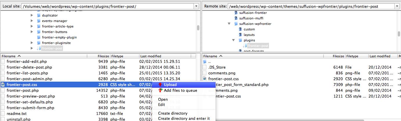 frontier post templates css frontier wordpress plugins